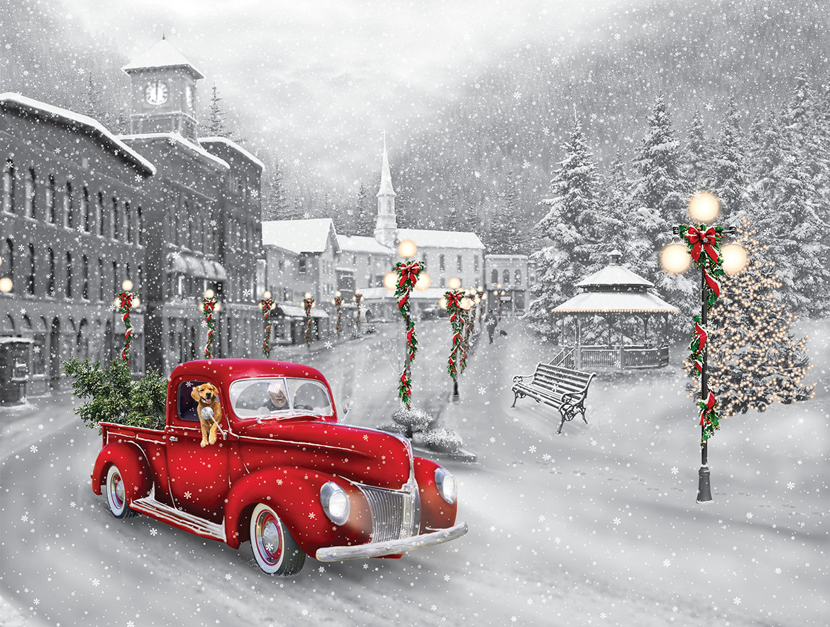 Holiday Ride Christmas Jigsaw Puzzle