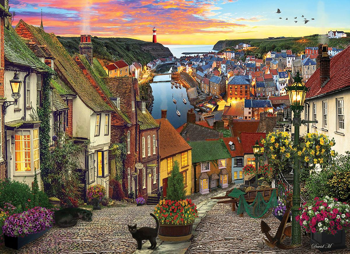 Harbour Village Landscape Jigsaw Puzzle