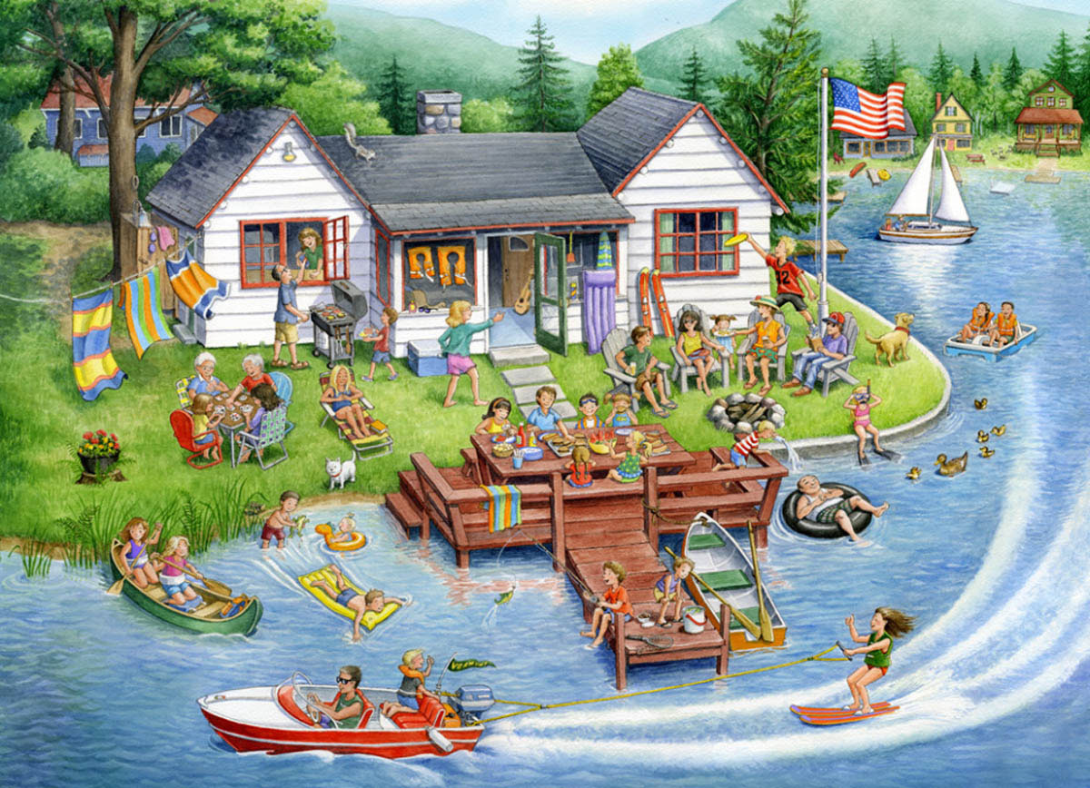 Lake House Jigsaw Puzzle Lakes / Rivers / Streams Jigsaw Puzzle