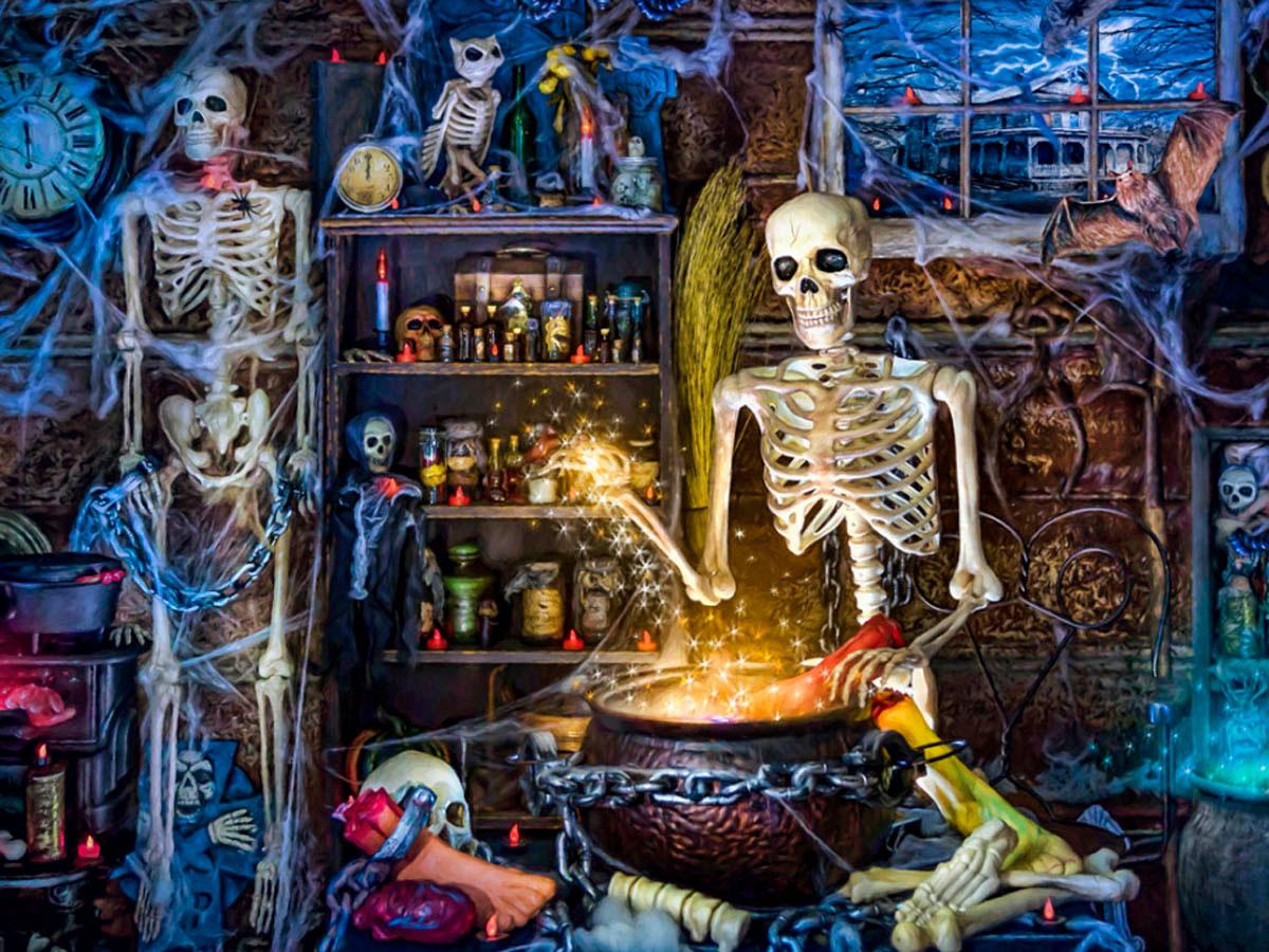 Skeleton's Stew Halloween Jigsaw Puzzle