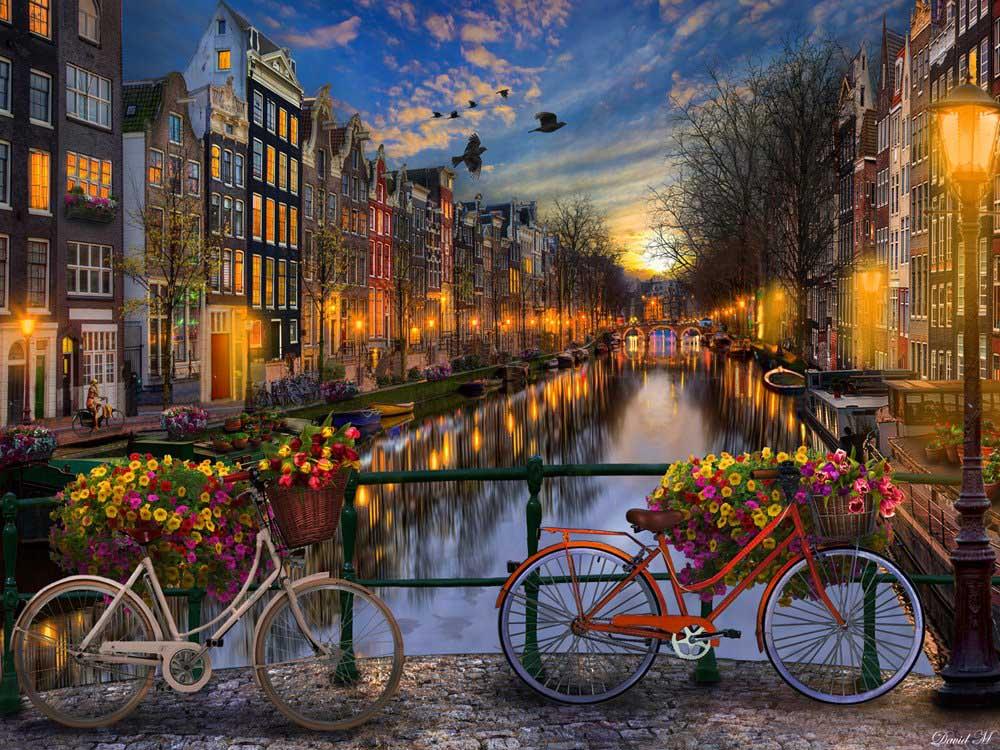 Amsterdam Aglow Europe Jigsaw Puzzle