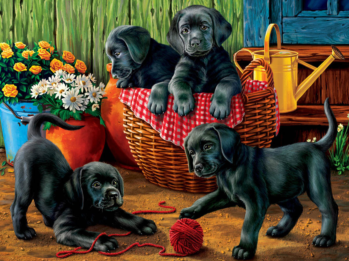 Puppy Fun Dogs Jigsaw Puzzle