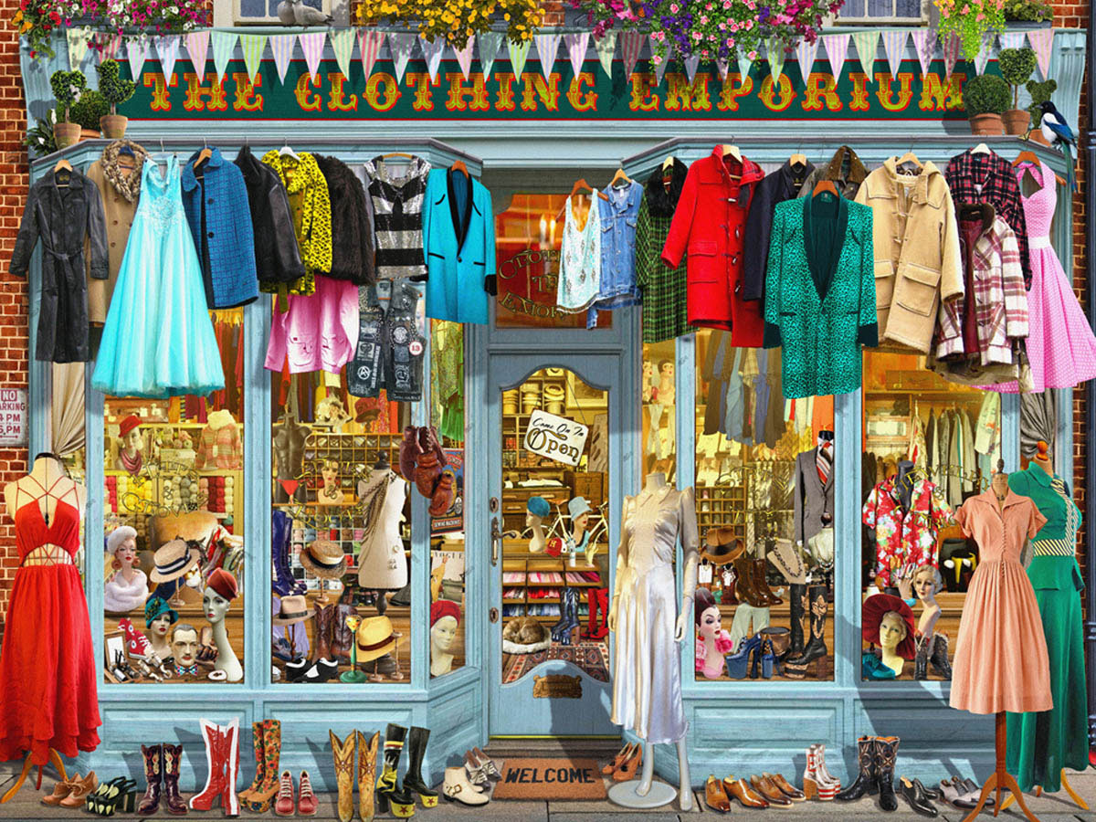 The Clothing Emporium General Store Jigsaw Puzzle
