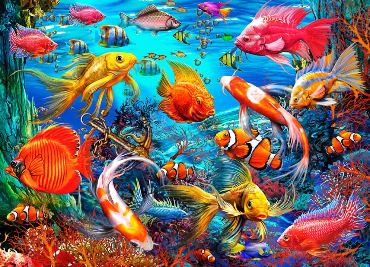 Tropical Fish Fishing Jigsaw Puzzle