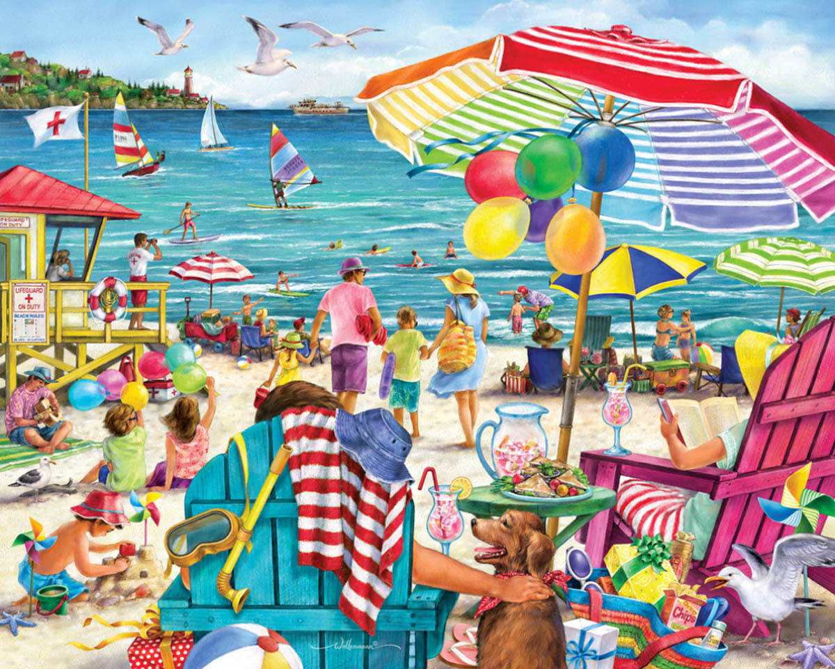 Day at the Beach Beach Jigsaw Puzzle
