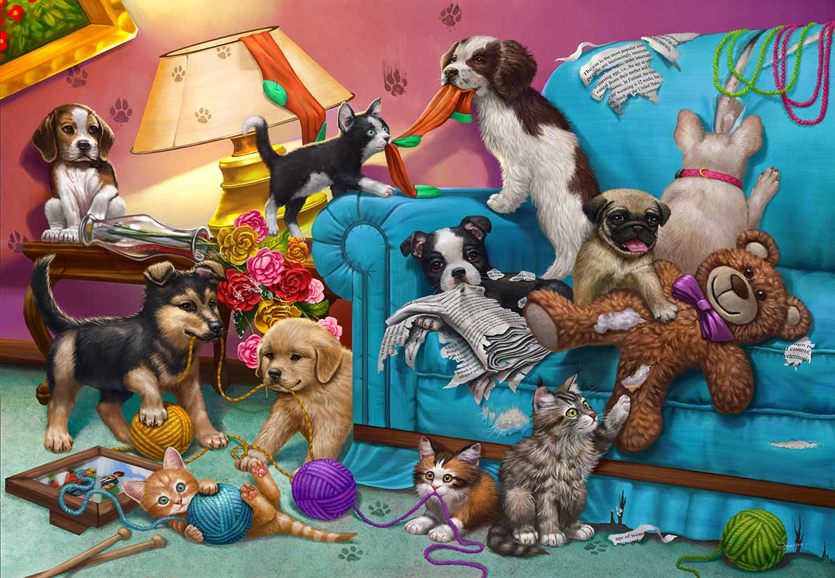 Paws Gone Wild Animals Jigsaw Puzzle