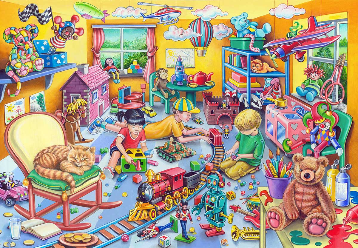 Play Room Domestic Scene Jigsaw Puzzle