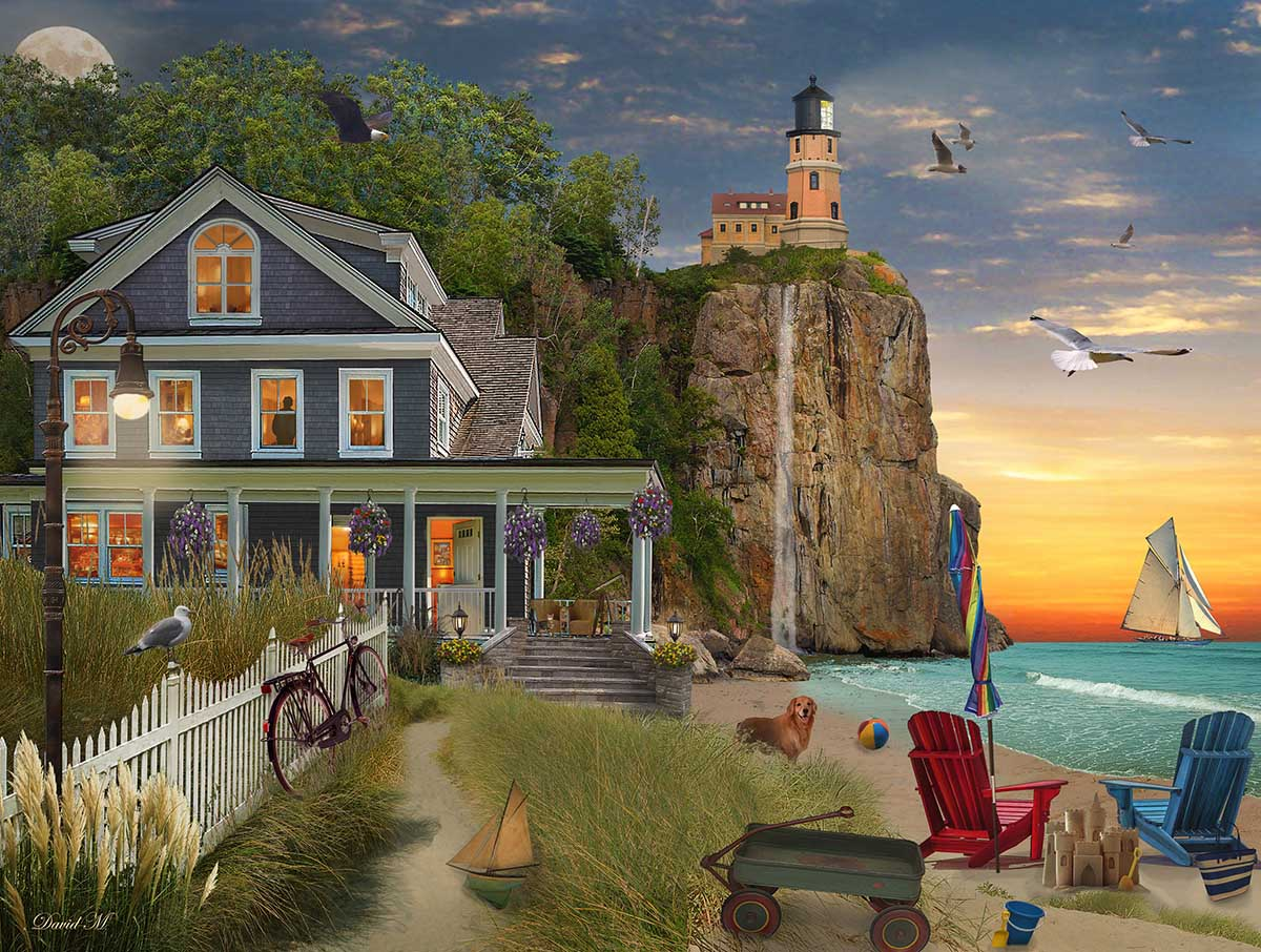 Beachside Lighthouse Lighthouse Beach Jigsaw Puzzle