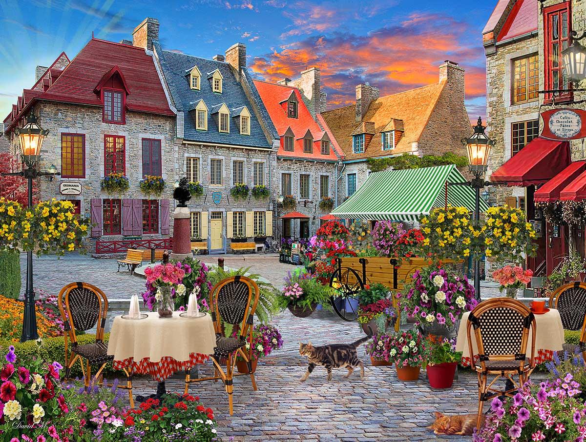Village Square Street Scene Jigsaw Puzzle