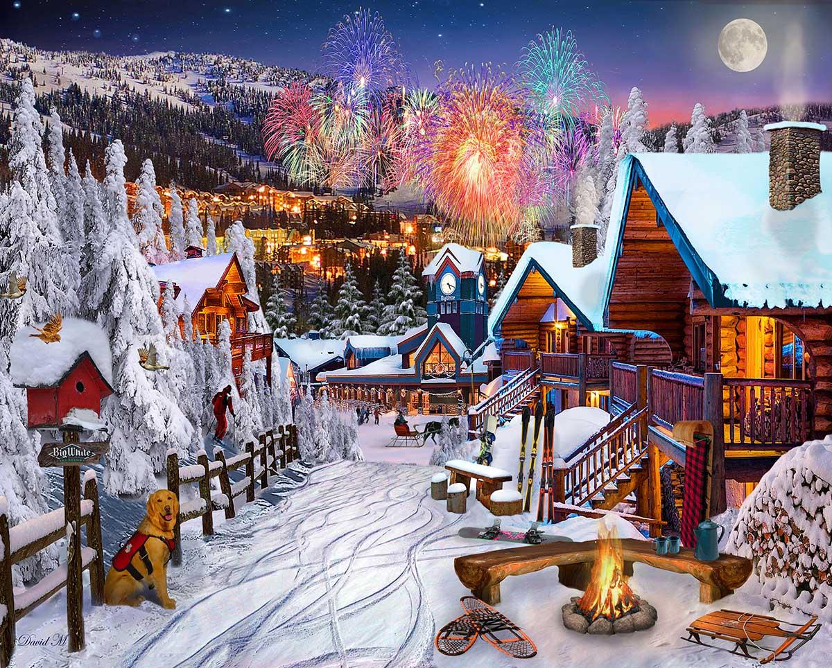 Winter Playground Winter Jigsaw Puzzle