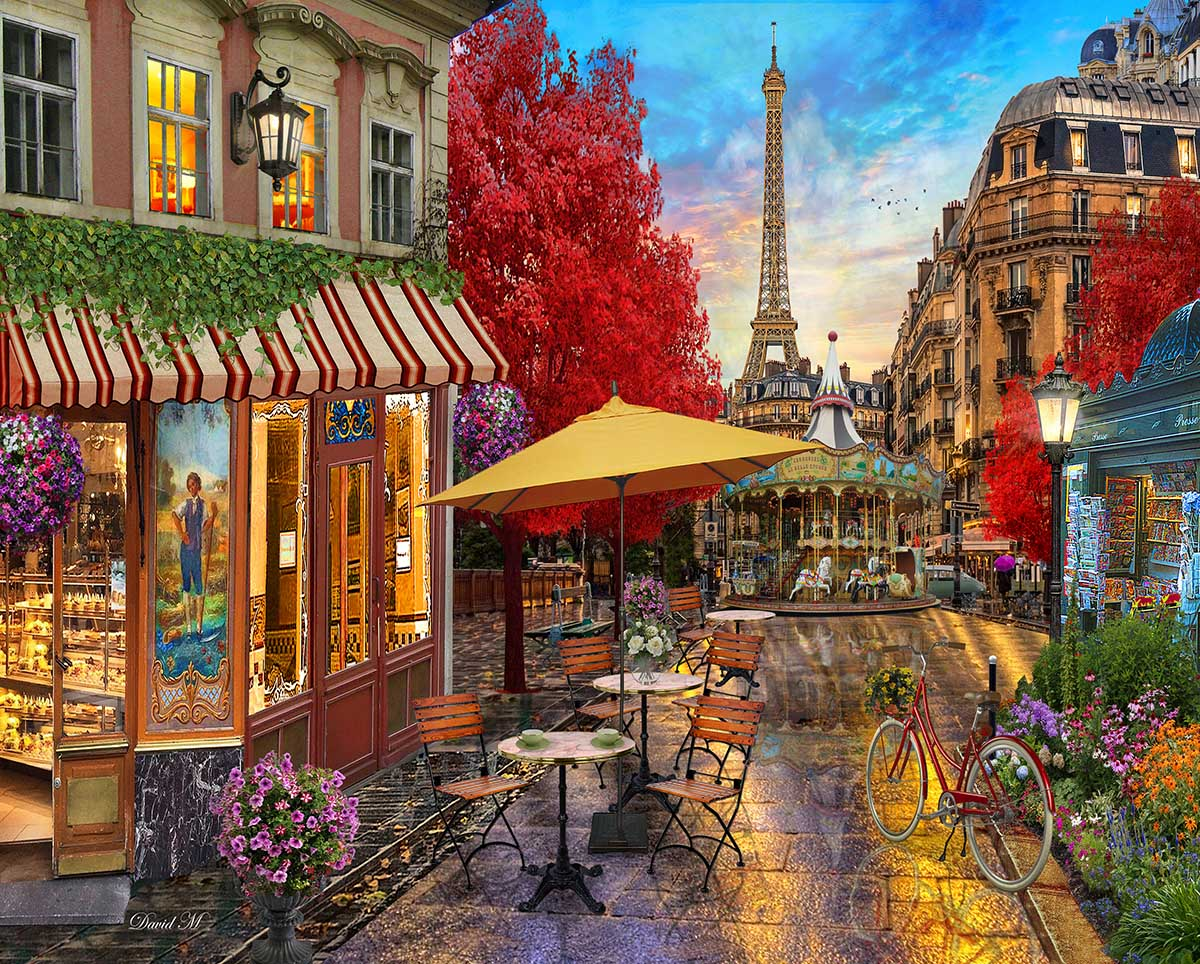Evening in Paris France Jigsaw Puzzle