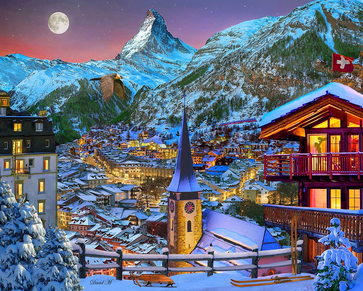The Majestic Matterhorn Mountains Jigsaw Puzzle