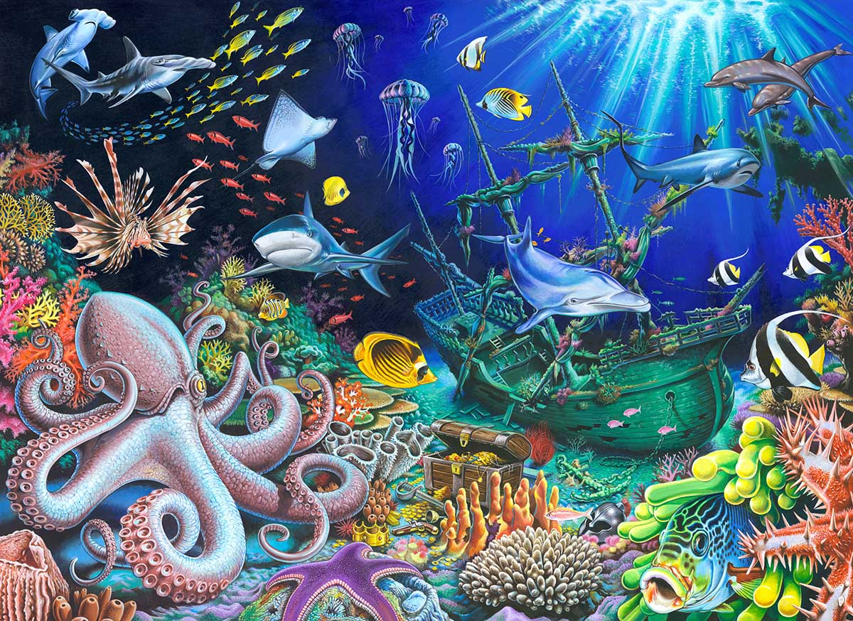 Sunken Treasure Under The Sea Jigsaw Puzzle