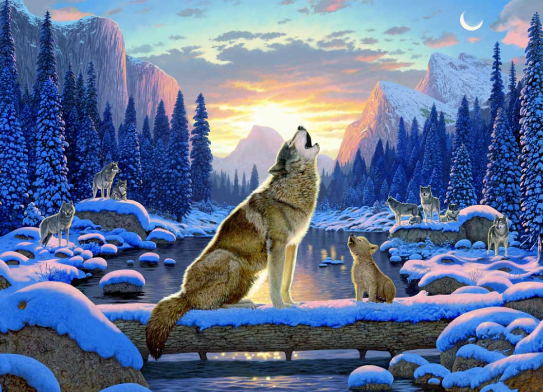 Wolf Song Wolves Jigsaw Puzzle