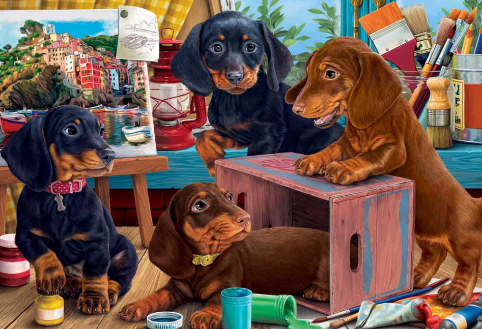Studio Puppies Dogs Jigsaw Puzzle