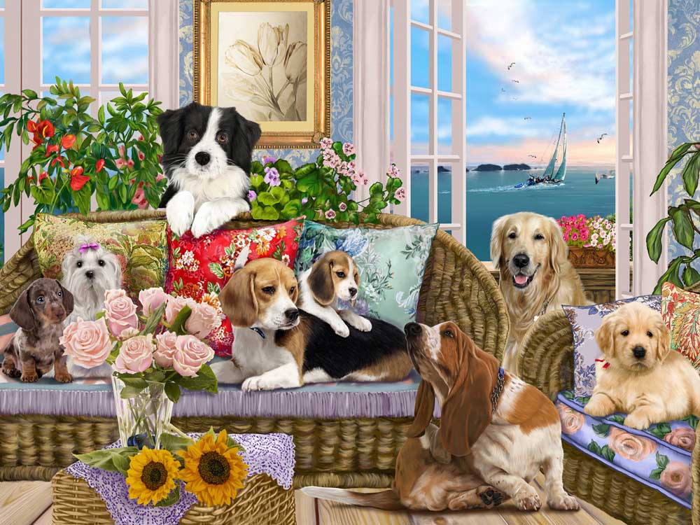Dogs on the Sofa Dogs Jigsaw Puzzle