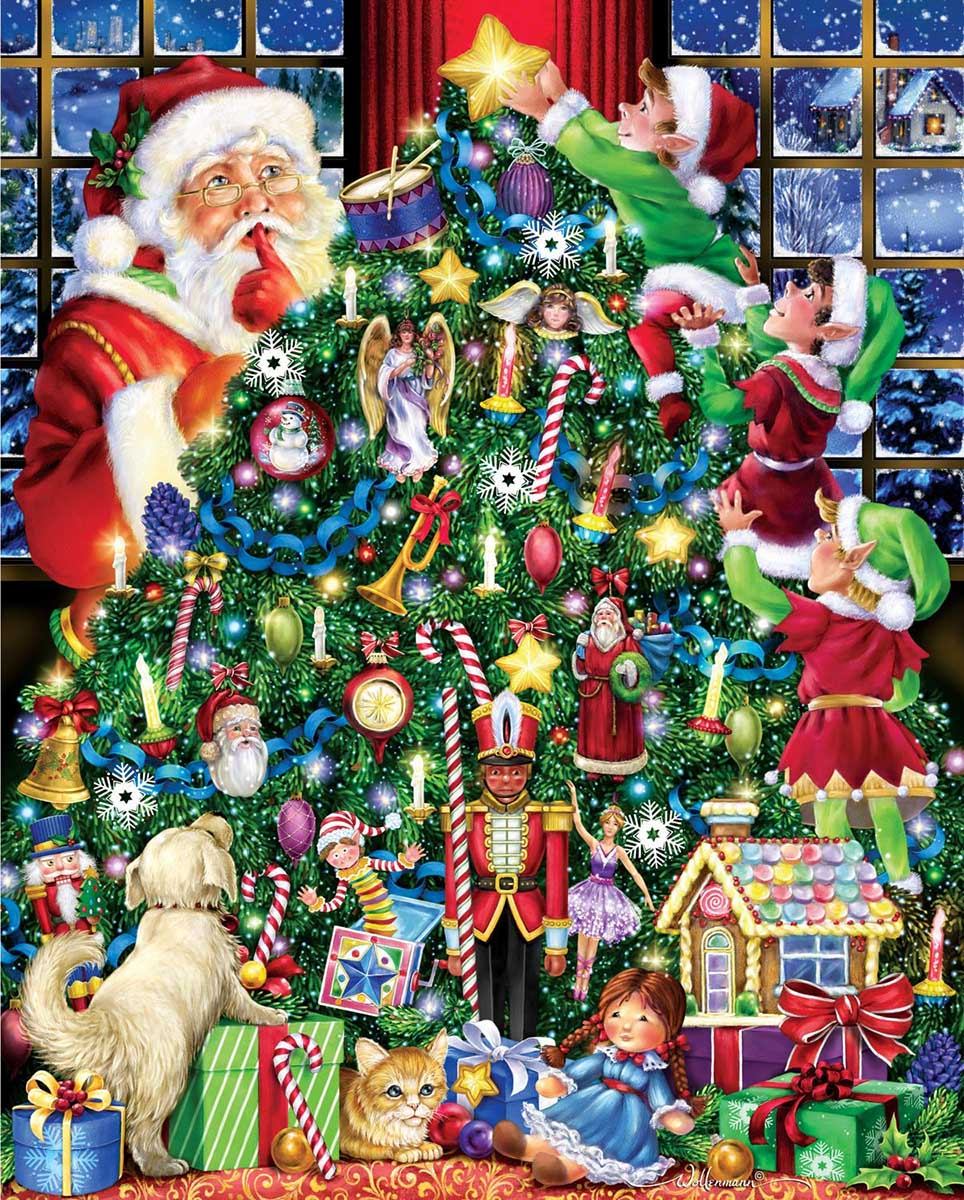 The Star on Top Santa Jigsaw Puzzle
