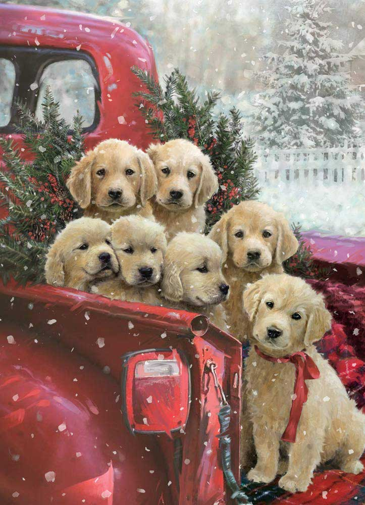 Christmas Delivery - Scratch and Dent Dogs Jigsaw Puzzle