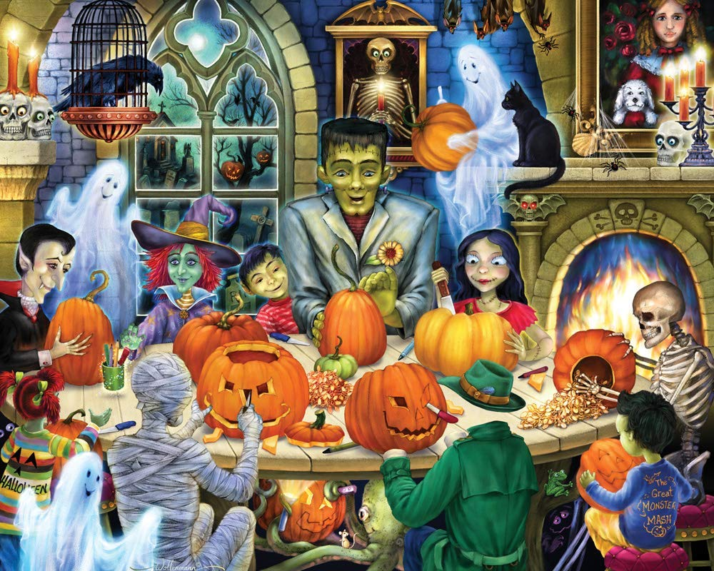 Haunted House Party Halloween Jigsaw Puzzle