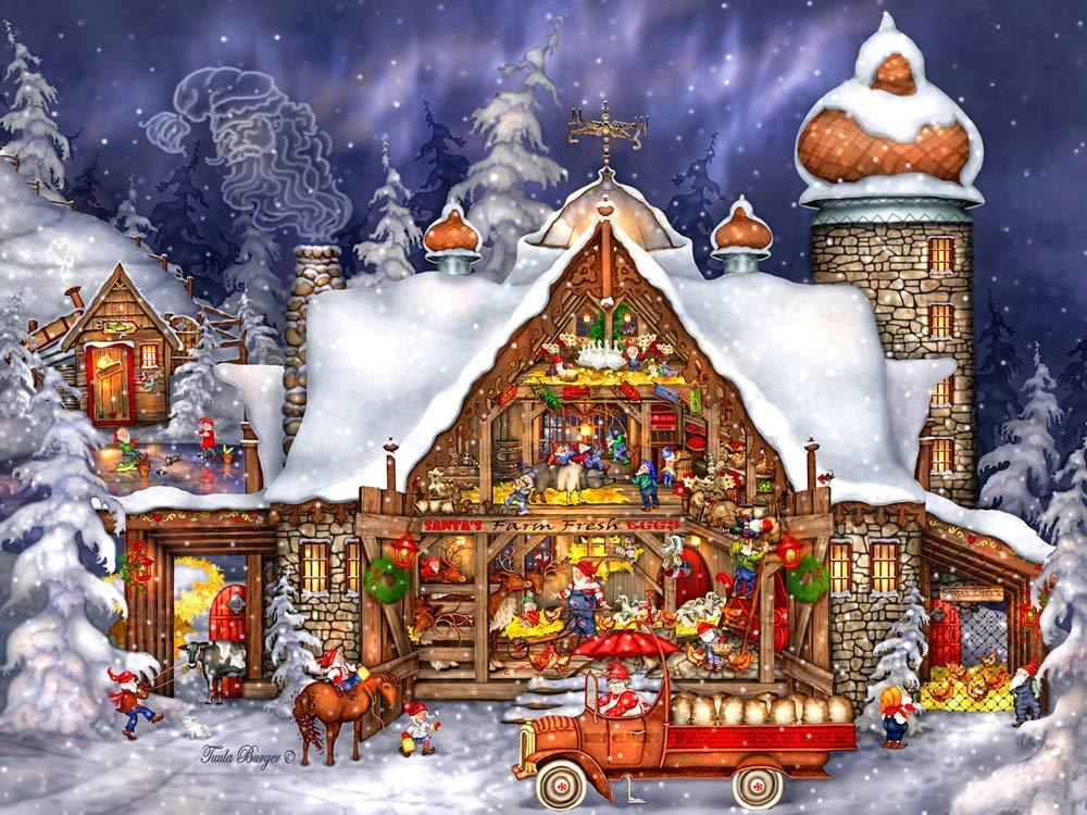 Santa's Barn Farm Jigsaw Puzzle