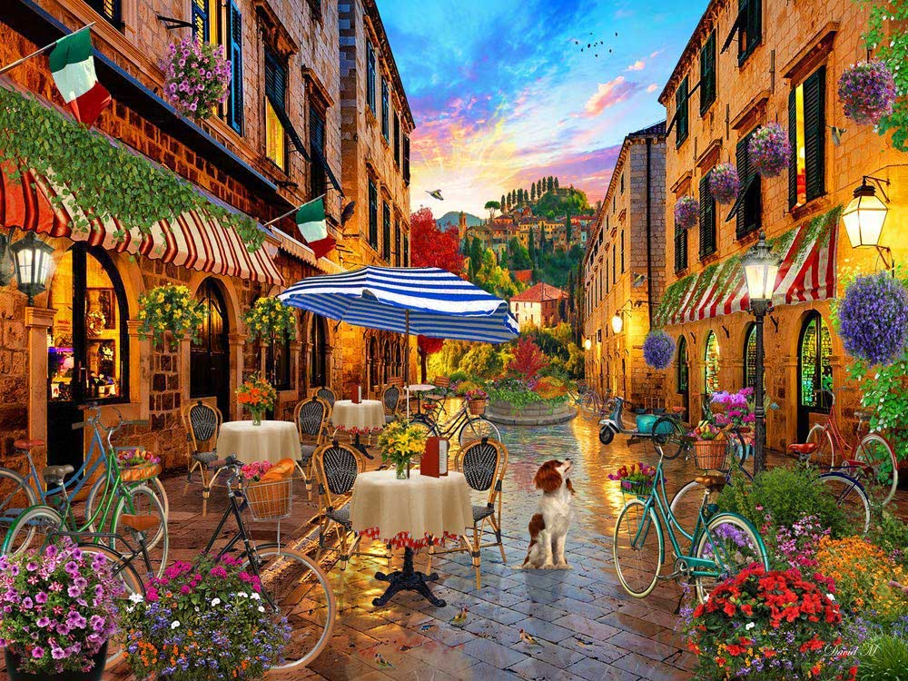 Biking Through Italy - Scratch and Dent Italy Jigsaw Puzzle