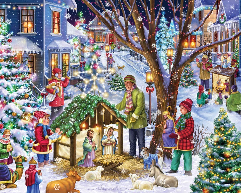 Neighborhood Nativity Religious Jigsaw Puzzle