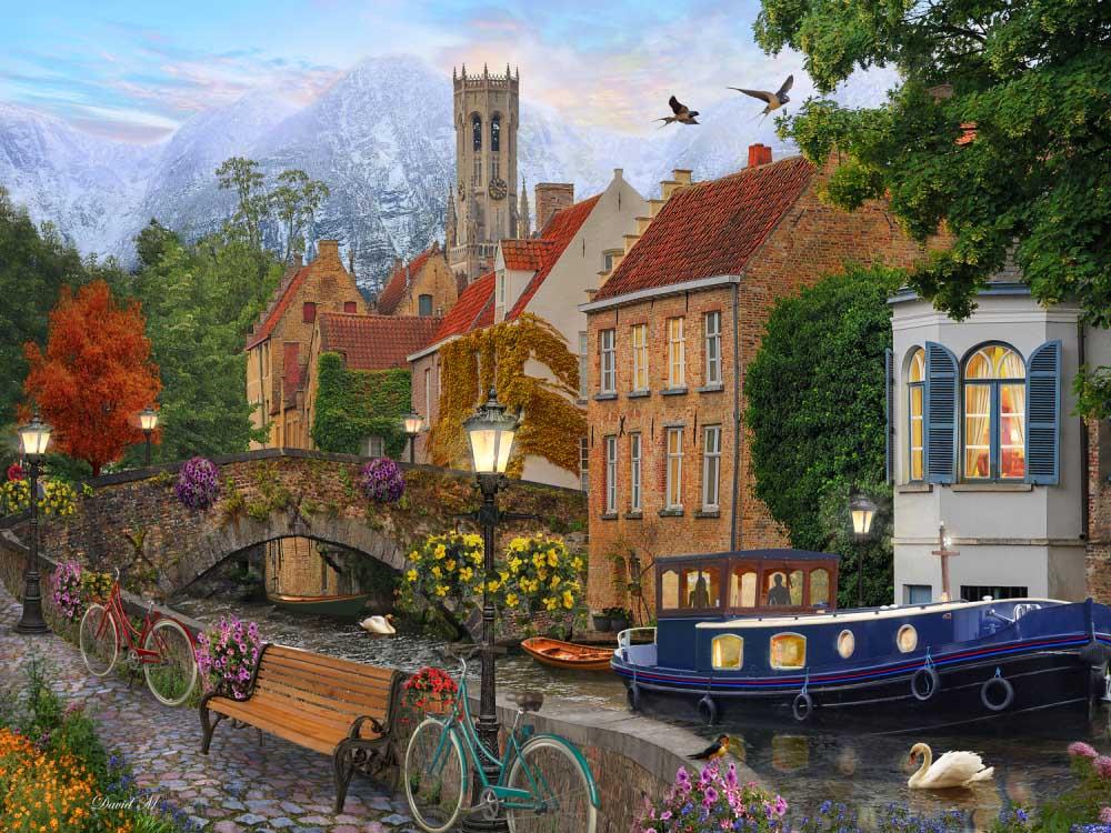 Canal Living Landscape Jigsaw Puzzle