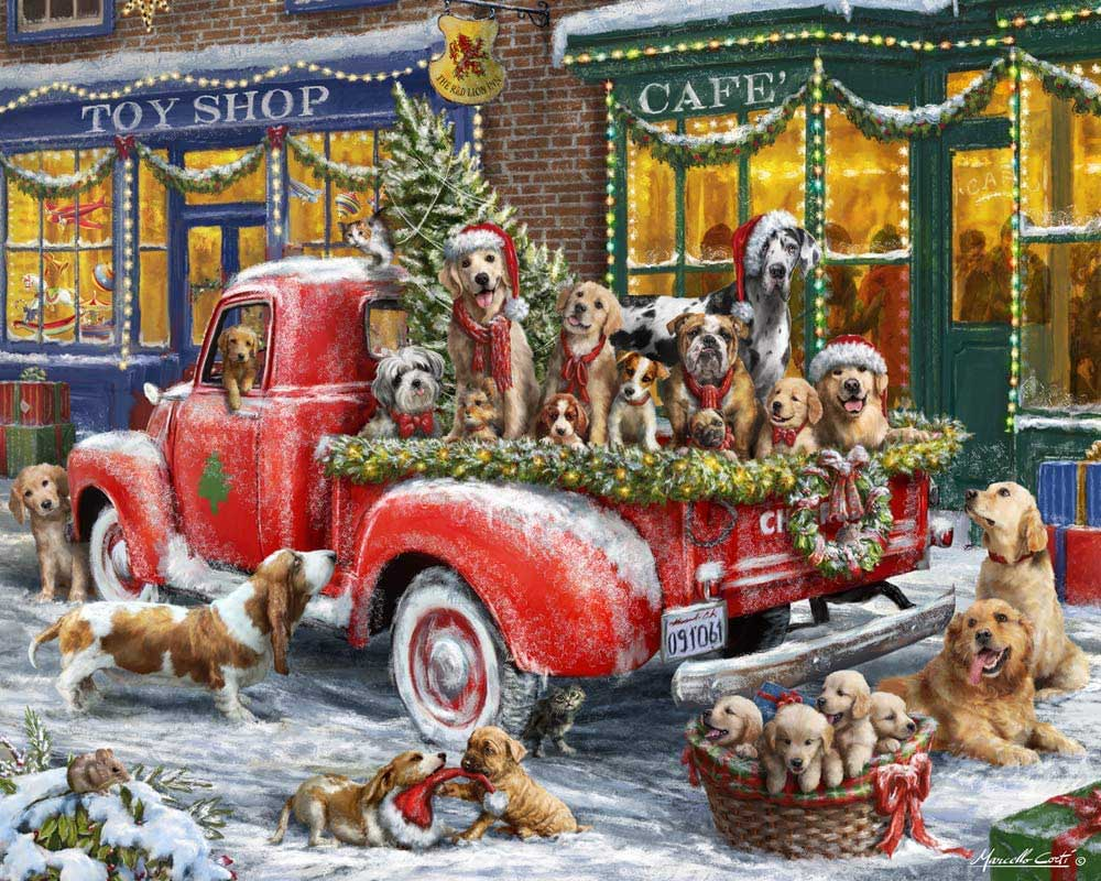 Doggone Christmas Dogs Jigsaw Puzzle