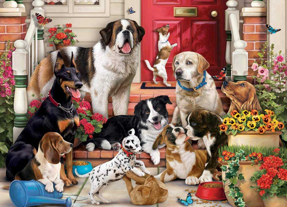 A Dog's Life Dogs Jigsaw Puzzle