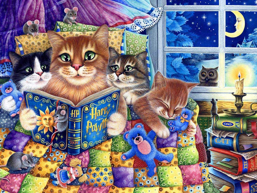 Kittens' Bedtime Cats Jigsaw Puzzle