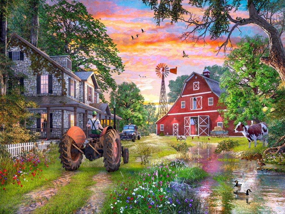 Working Farm Countryside Jigsaw Puzzle