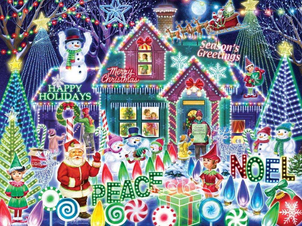 Festival of Lights Christmas Jigsaw Puzzle