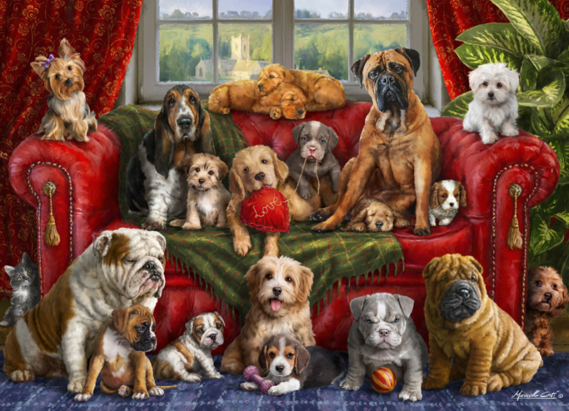 Love My Dogs Dogs Jigsaw Puzzle