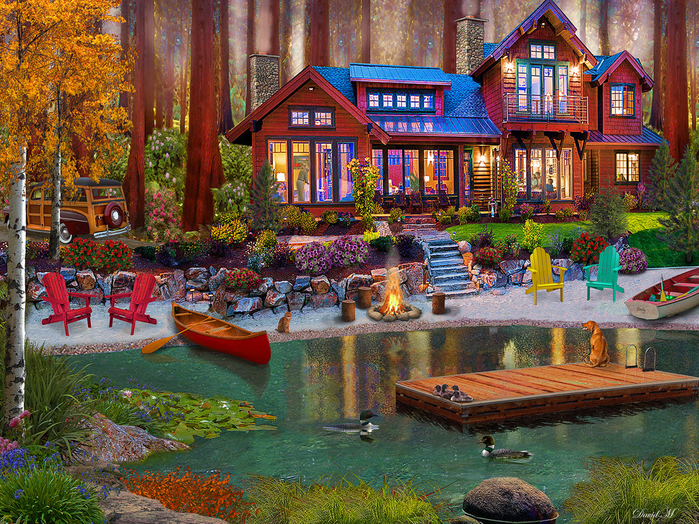 Cottage Life Lakes / Rivers / Streams Jigsaw Puzzle