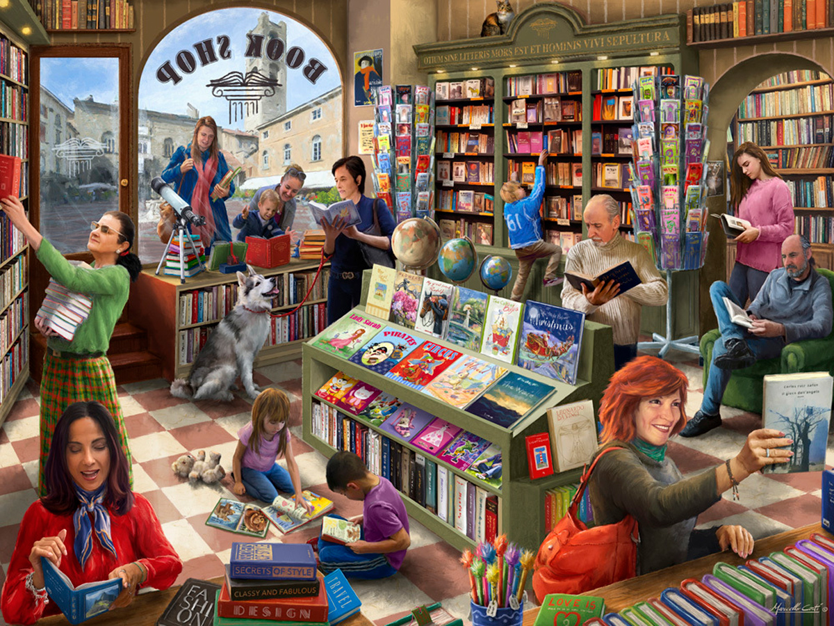 Book Shop Shopping Jigsaw Puzzle
