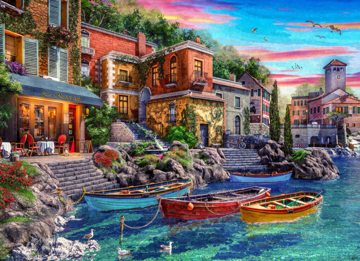Lake Como Boats Jigsaw Puzzle