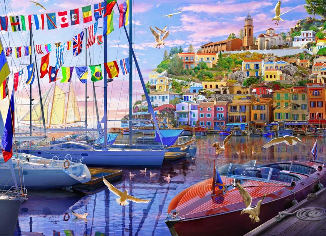 Boat Harbor Boats Jigsaw Puzzle