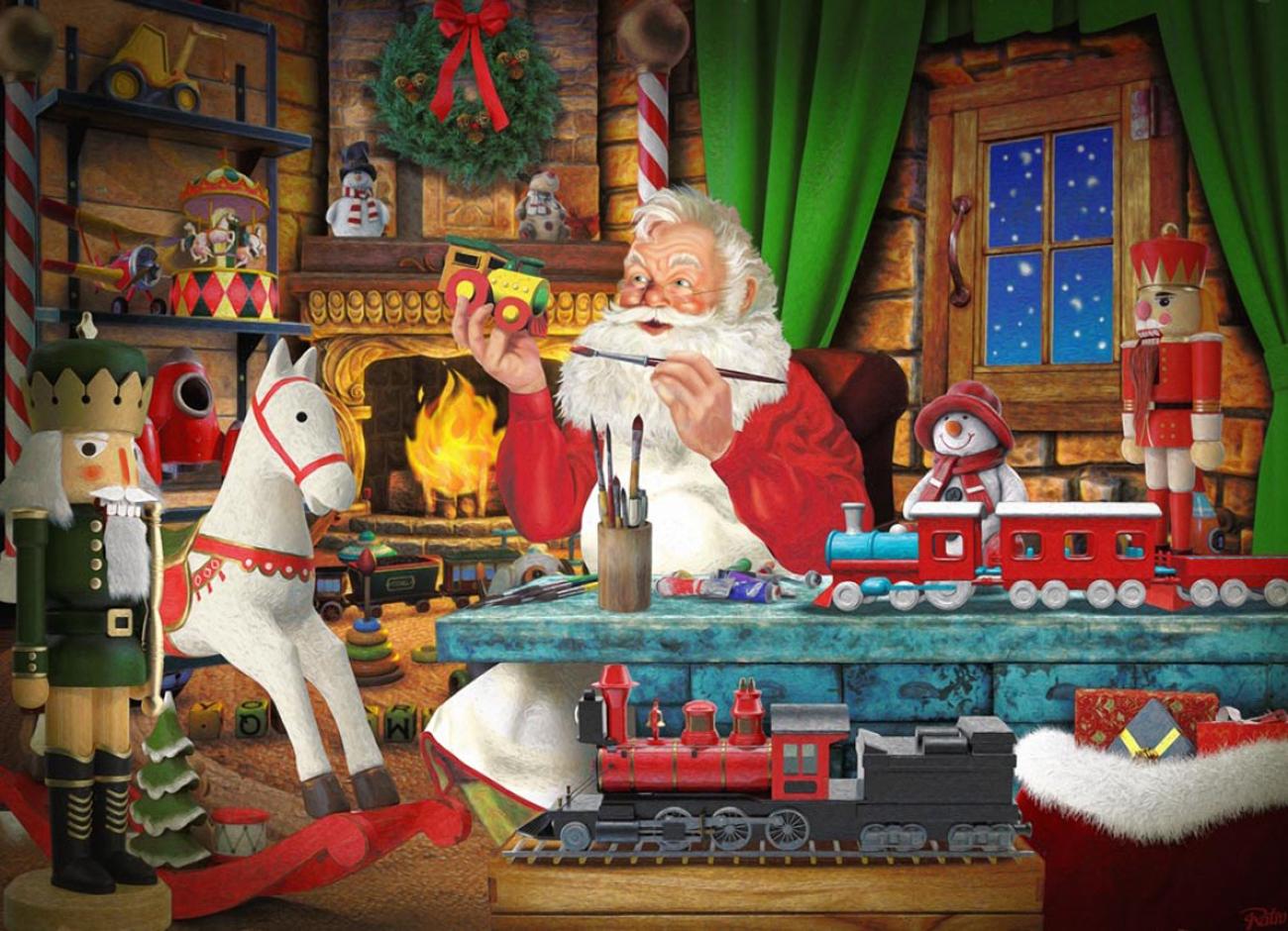 Santa's Toyworks Santa Jigsaw Puzzle