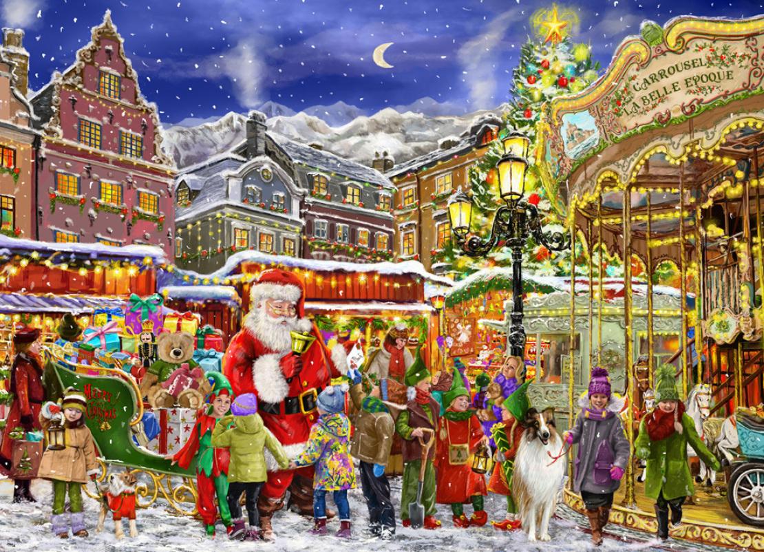 Christmas Carousel Santa Jigsaw Puzzle