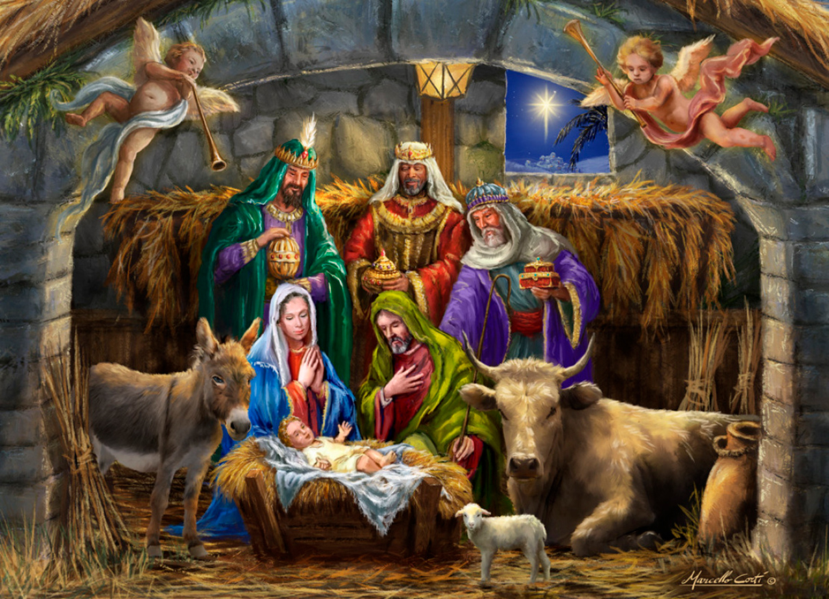 In the Manger Religious Jigsaw Puzzle
