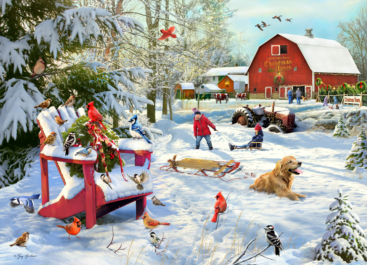 The Farm at Christmas  Farm Jigsaw Puzzle