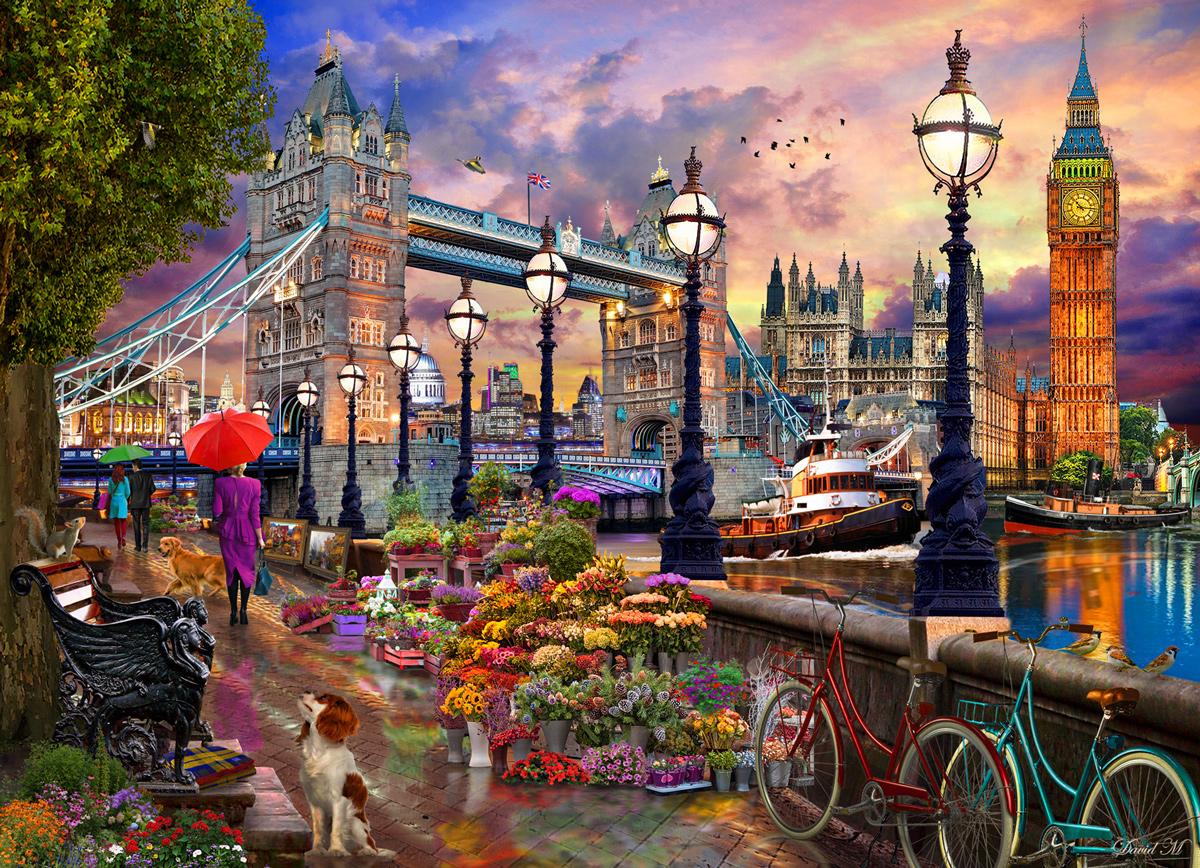 London Promenade  Landmarks / Monuments Jigsaw Puzzle