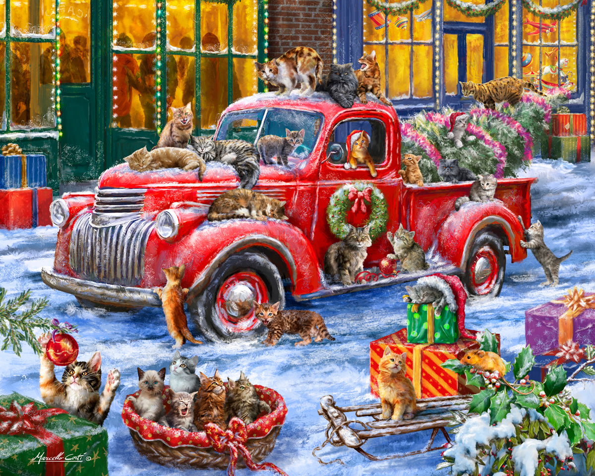 It's a Cat's Christmas  Cats Jigsaw Puzzle