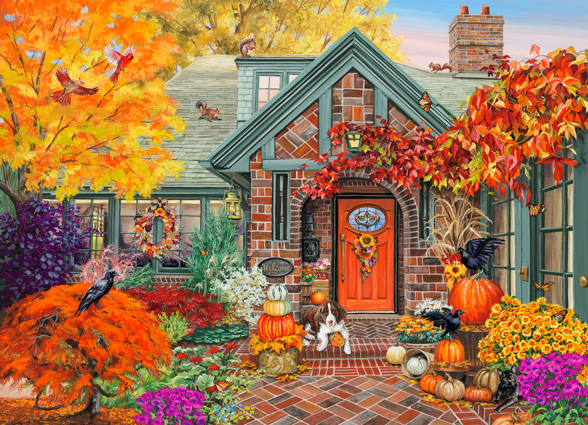 Autumn Welcome Fall Jigsaw Puzzle