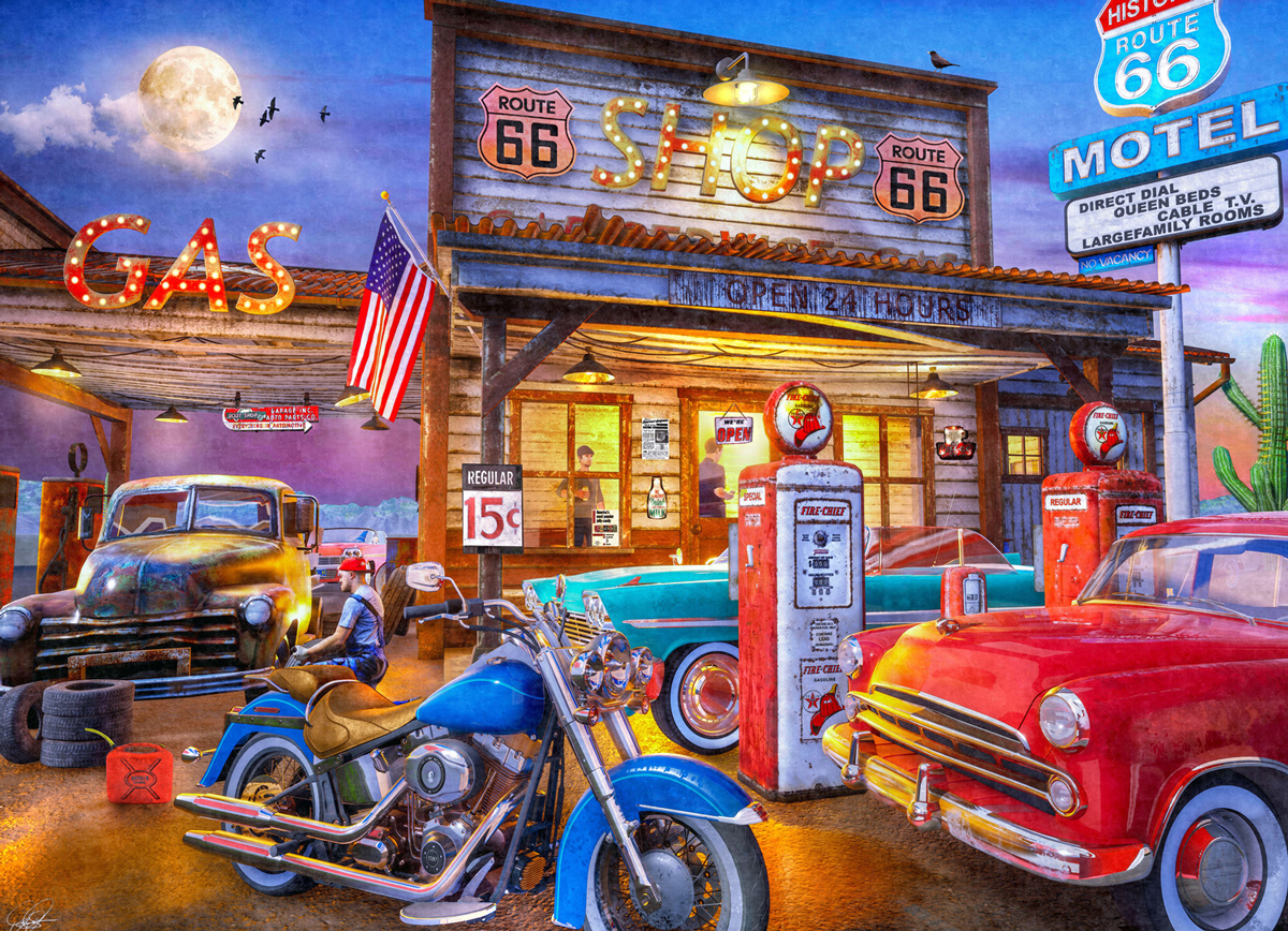 Route 66 Vehicles Jigsaw Puzzle