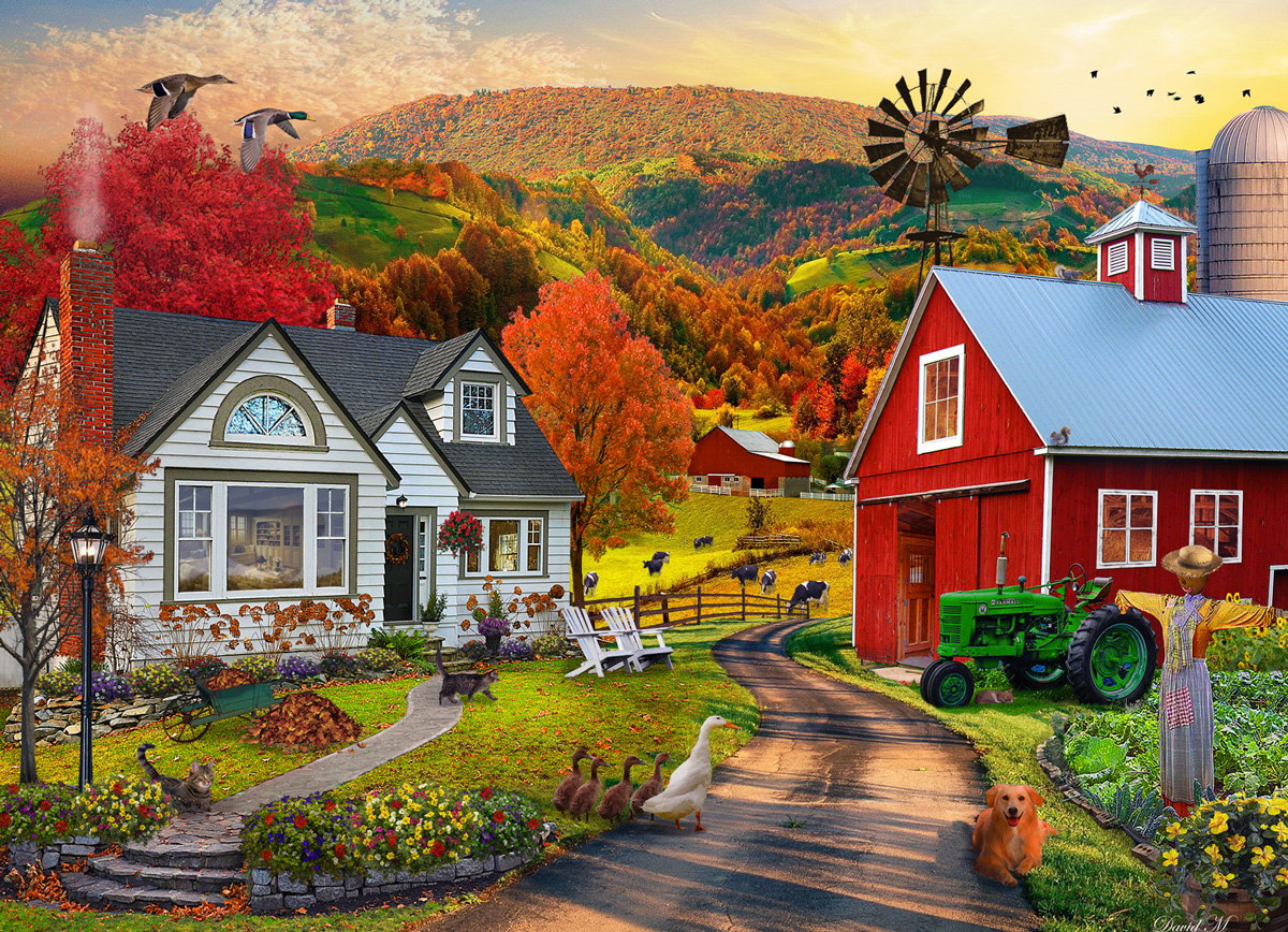 Country Farm Farm Jigsaw Puzzle