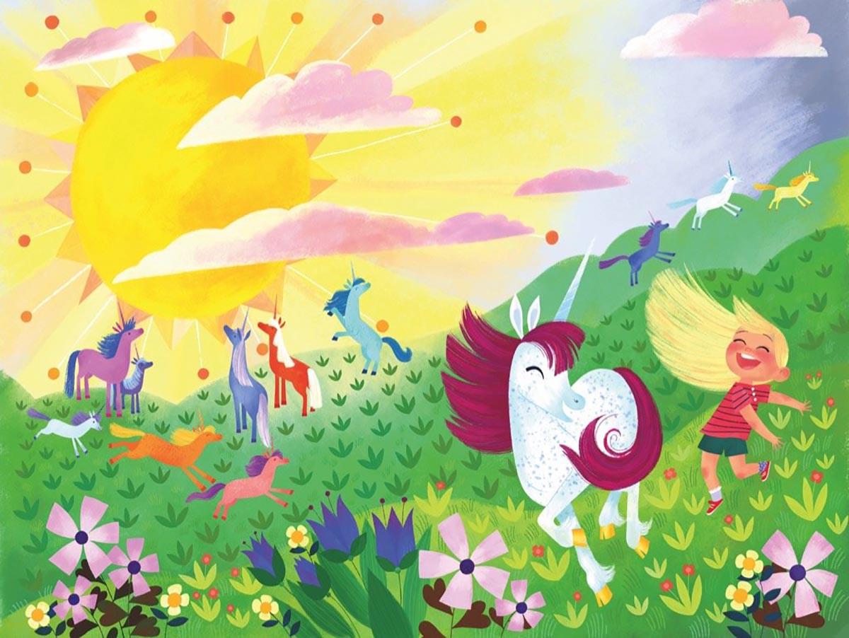 Unicorn Frolic Graphics / Illustration Jigsaw Puzzle
