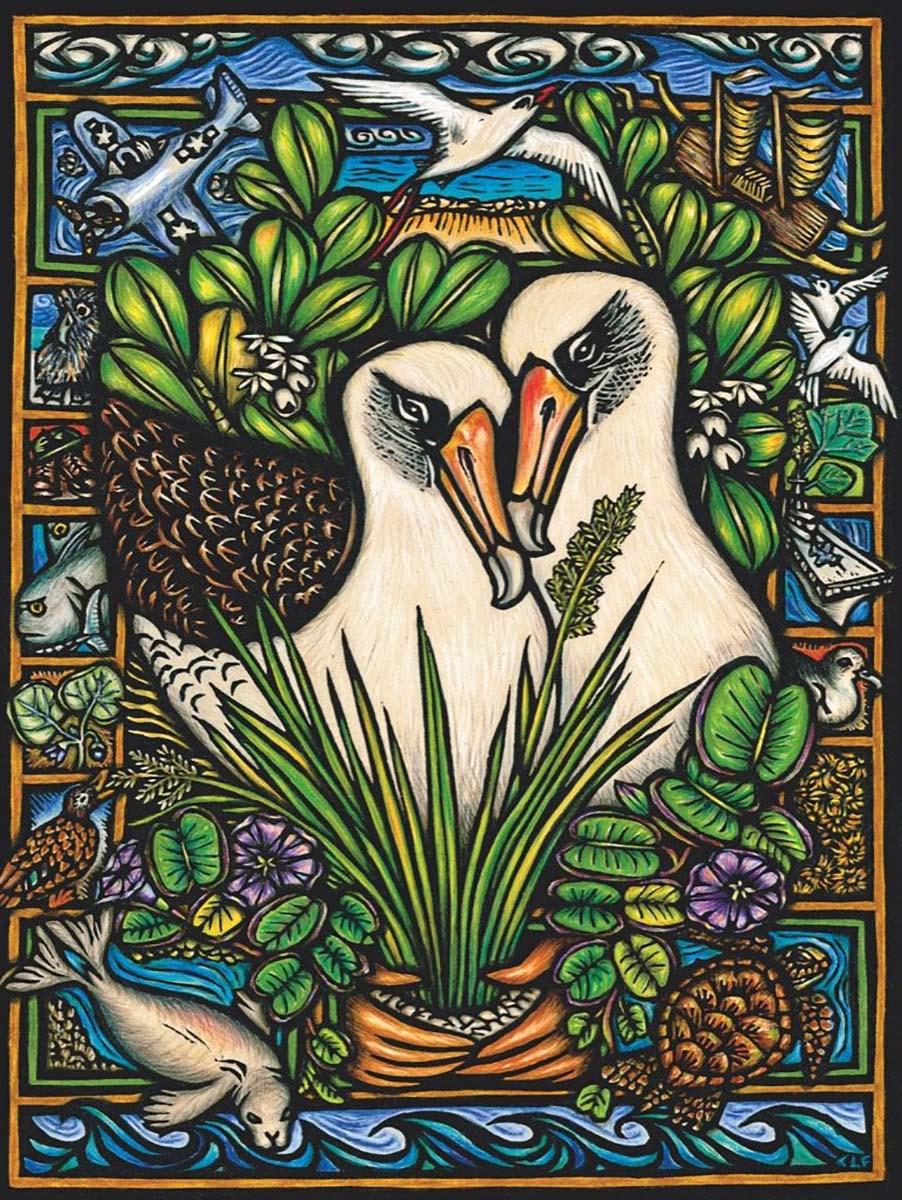 Albatross Duo Birds Jigsaw Puzzle