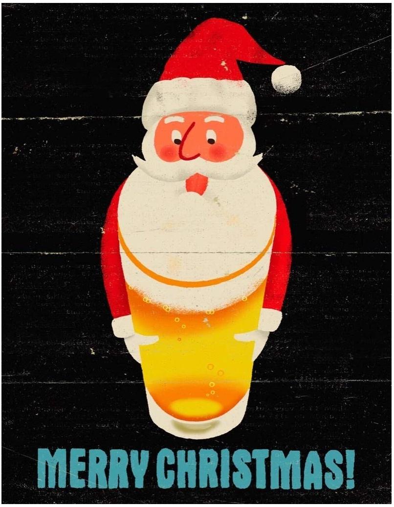 Santa's Beerd (Mini) Santa Jigsaw Puzzle