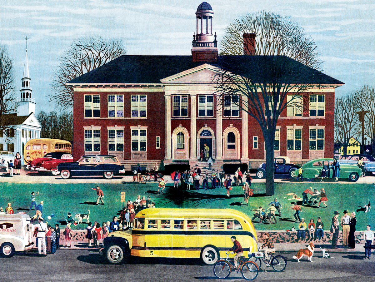 School House 1950 Gm Annual Report General Motors